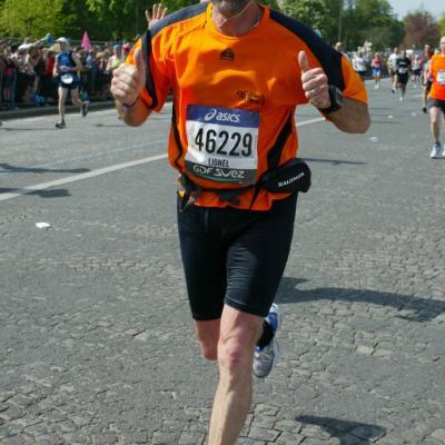 Lionel au marathon de¨Paris