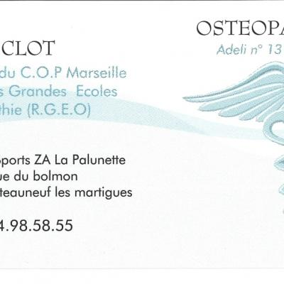 OSTEOPATHE FLORENCE CLOT 2014