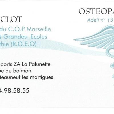 OSTEOPATHE FLORENCE CLOT 2014