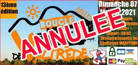 ANNULATION BOUCLE DE VALTREDE 2021