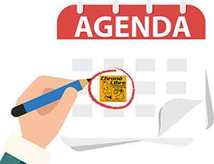 Agenda mensuel du club